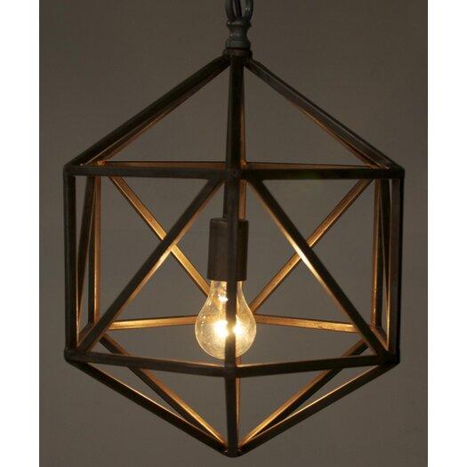 Noir Diamond C 1 Light Foyer Pendant