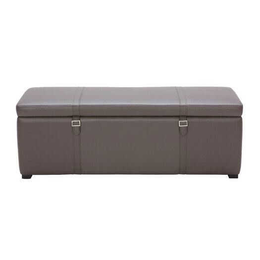 Sunpan Modern Voyager Bonded Leather Storage Bench