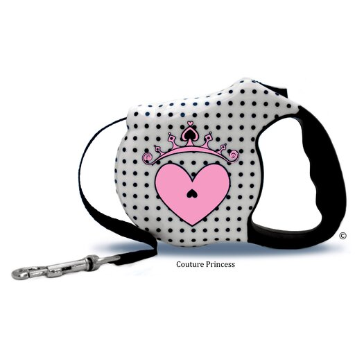 26 Bars & A Band Avant Garde Couture Princess Retractable Dog Leash