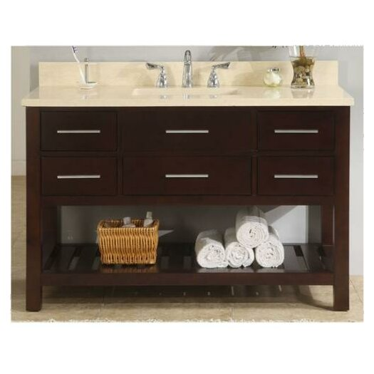 "Empire Industries Priva 48"" Single Open Bathroom Vanity Set"