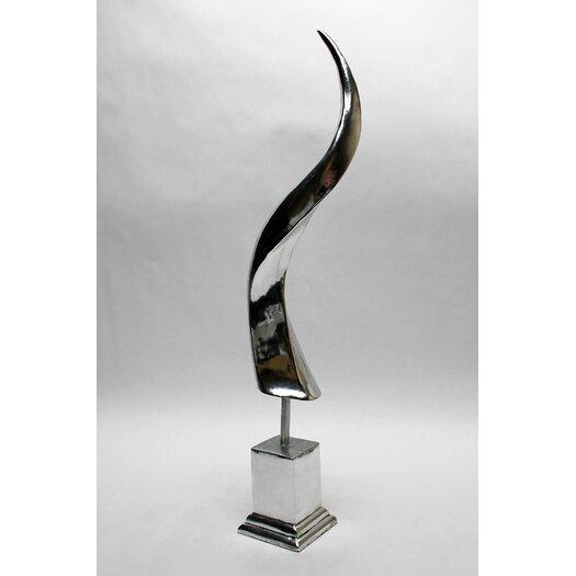 Vita V Home Silver Antelope Horn Figurine