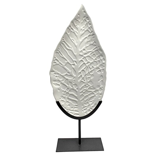 Vita V Home Fala Leaf on Stand Sculpture