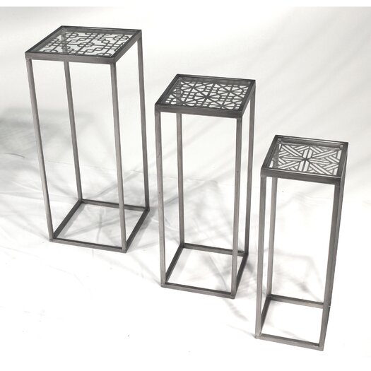 Vita V Home Metal 3 Piece Nesting Tables
