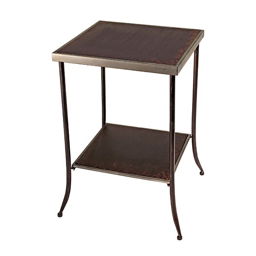 Vita V Home Tapered Leg Metal End Table