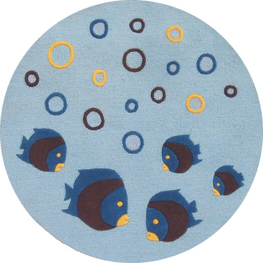 Abacasa Lifestyle Kids Aquarium Light Blue Area Rug