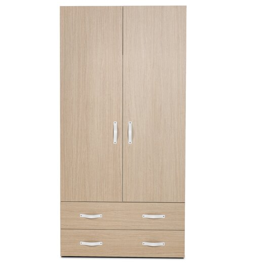 Bestar Clic Furniture 2 Door Armoire with Drawers