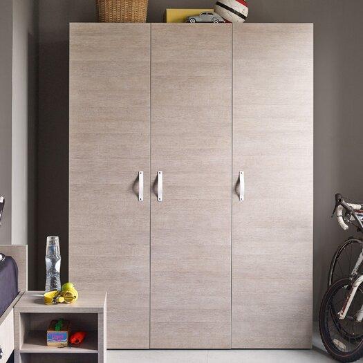 Bestar Clic Furniture 3 Door Armoire