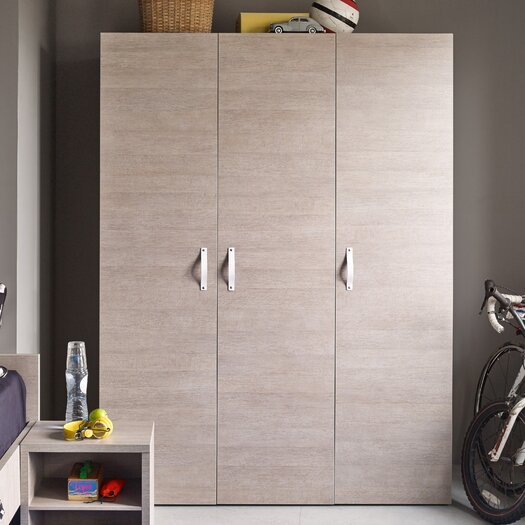 Bestar Clic Furniture 3 Door Armoire