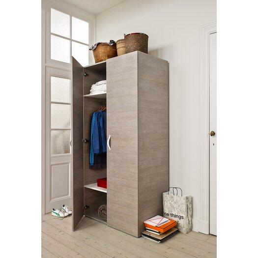 Bestar Clic Furniture 2 Door Armoire