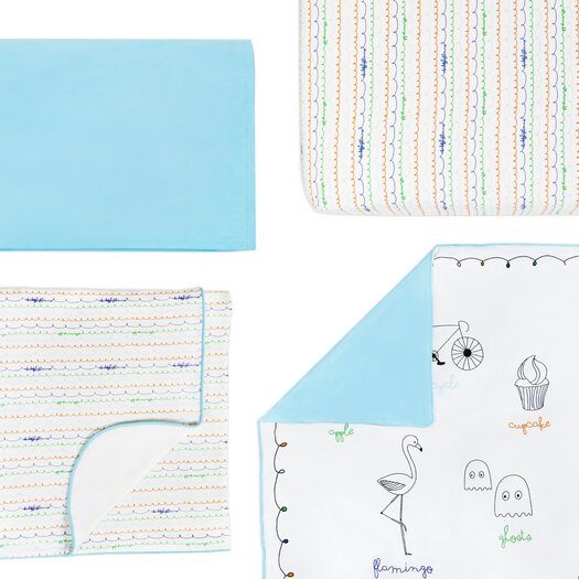 babyletto Alphabets Fitted Crib Sheet