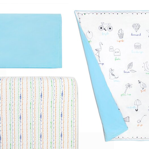 babyletto Alphabets Crib Skirt