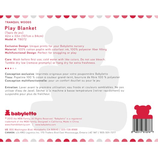babyletto Tranquil Woods Play Blanket