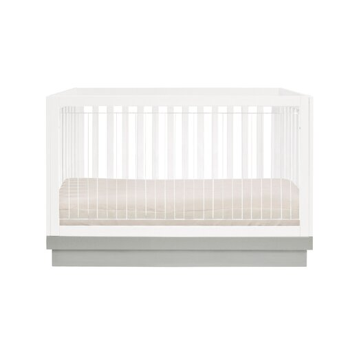 Acrylic Harlow 3-in-1 Convertible Crib