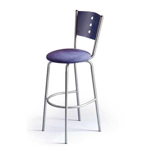 "Createch Earl 30"" Swivel Bar Stool with Cushion"