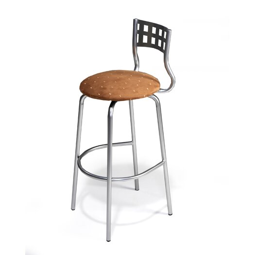 "Createch Nok 30"" Swivel Bar Stool with Cushion"