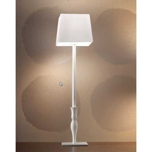 """Masiero Slim Tall 23.7"""" H Table Lamp with Square Shade"""