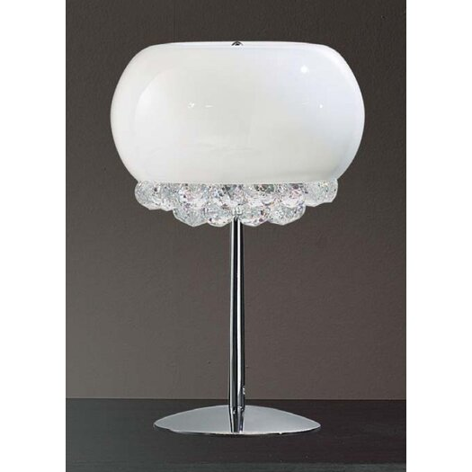 "Masiero Mir 17.7"" H Table Lamp with Bowl Shade"