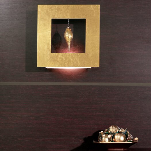 Masiero Klok 1 Light 1 Glass Drop Wall Sconce