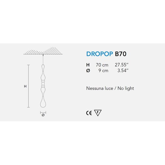 Masiero Dropop Decoration without Light