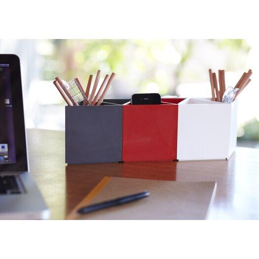 AMAC Rhombin 3-Piece Assorted Desktop Organizer