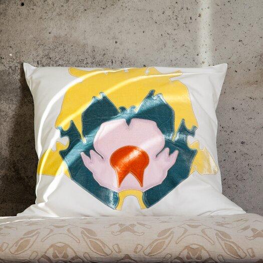 Scintilla Stone Flower Applique Pillow