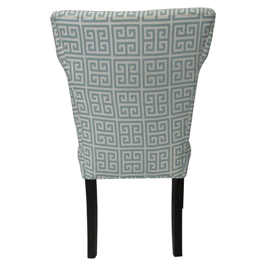Sole Designs Melrose Chain Wingback Cotton Slipper Chair (Set of 2)