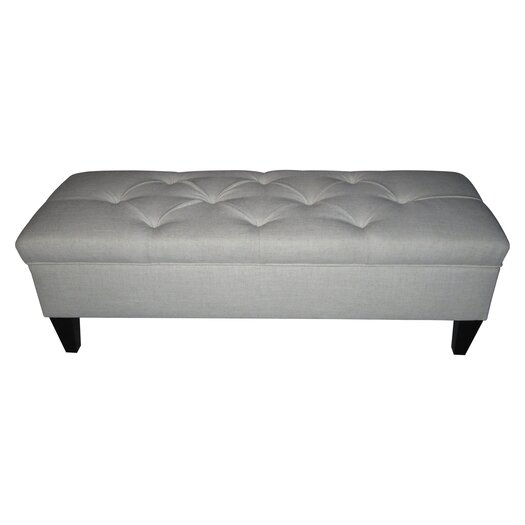 Sole Designs Brooke Upholstered Storage Bench in Magnolia