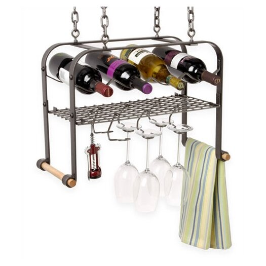 Enclume 4 Bottle Hanging Wine Rack