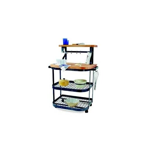 Enclume Premier Kitchen Cart with Wood Top