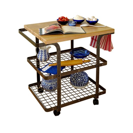 Enclume Kitchen Cart with Wood Top