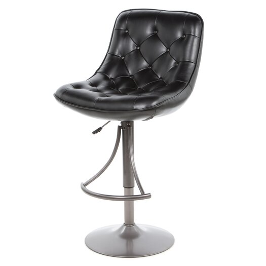 Hillsdale Furniture Aspen Adjustable Height Swivel Bar Stool with Cushion
