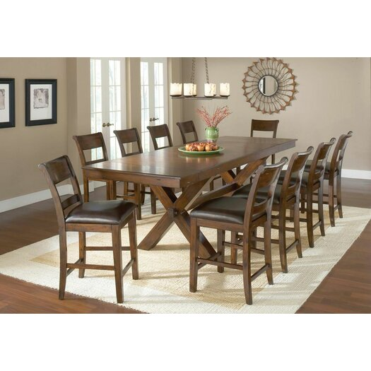 Hillsdale Furniture Park Avenue 11 Piece Counter Height Dining Set