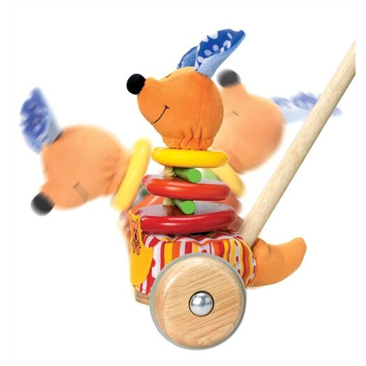 Wonderworld Rapping Kangaroo Sound Producing Push Toy
