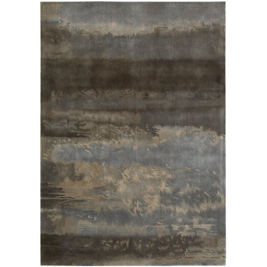 Calvin Klein Home Rug Collection Luster Wash Gray/Blue Slate Scene Area Rug