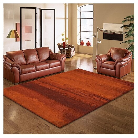 Calvin Klein Home Rug Collection Luster Wash Russet Tones Area Rug