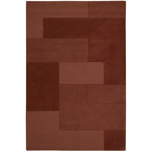 Calvin Klein Home Rug Collection Bowery Paprika Step Rug