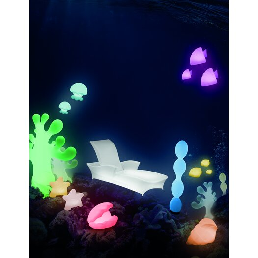 "100 Essentials Ocean Jelly Jish 11.81"" H Table Lamp"