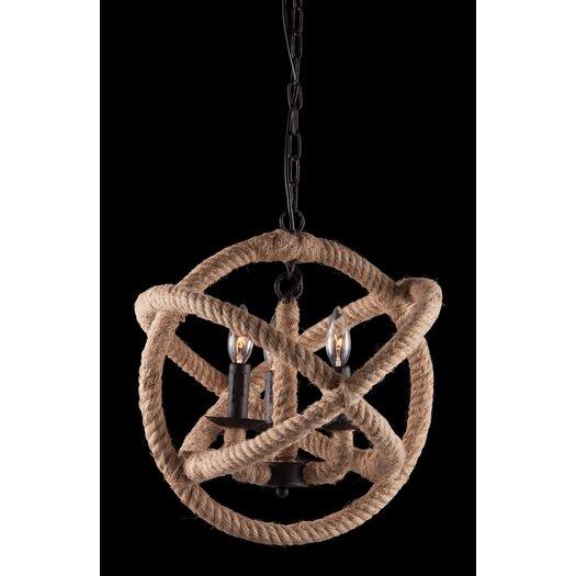 Zuo Era Caledonite 3 Light Pendant