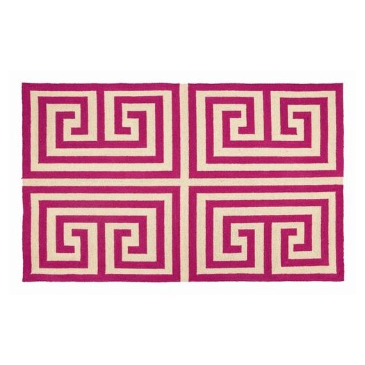 Trina Turk Residential Greek Key Pink Geometric Area Rug