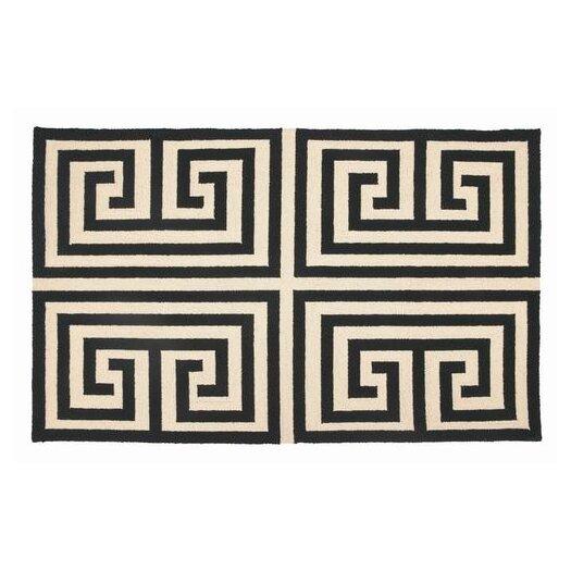 Trina Turk Residential Greek Key Black Geometric Area Rug