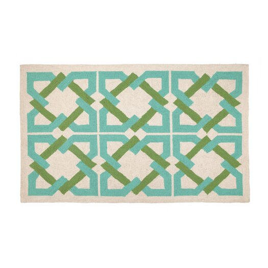 Trina Turk Residential Geometric Tile Blue/Green Area Rug