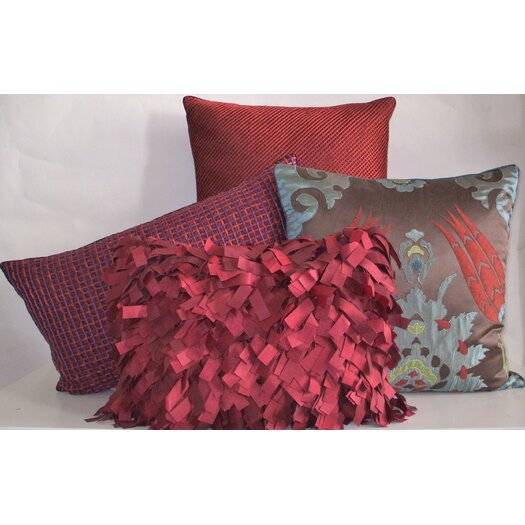 Edie Inc. Double Grid Cord Decorative Pillow