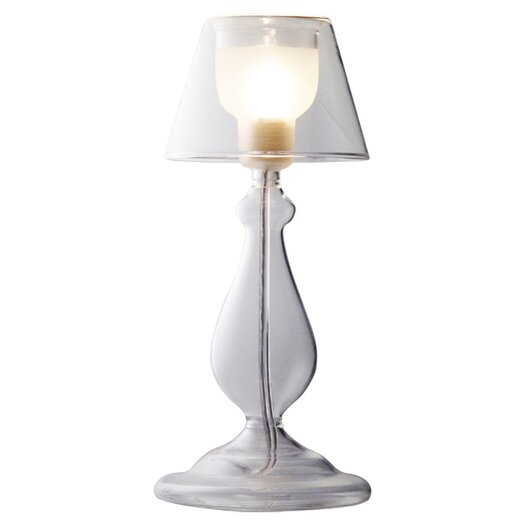 """Bazz Vetro 1 Light 9"""" H Table Lamp with Empire Shade"""