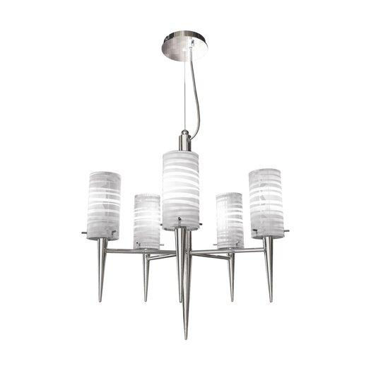 Bazz Inciso 5 Light Pendant Chandelier