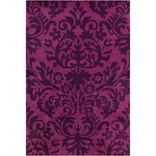 Filament  LLC Cinzia Purple / Black Floral Area Rug