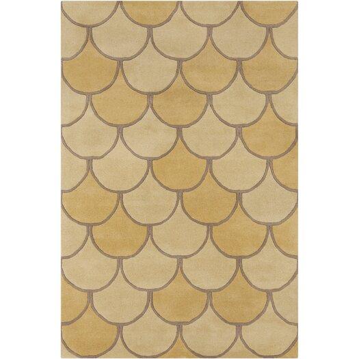 Filament  LLC Cinzia Yellow / Gold Abstract Area Rug
