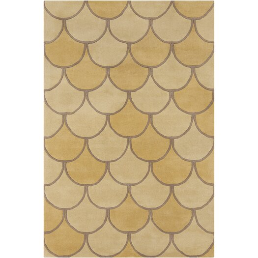 Filament  LLC Cinzia Yellow / Gold Abstract Area Rug