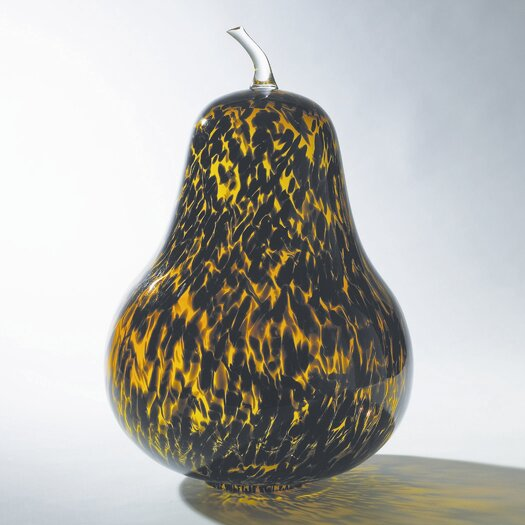 Global Views Tortoise Glass Pear Sculpture