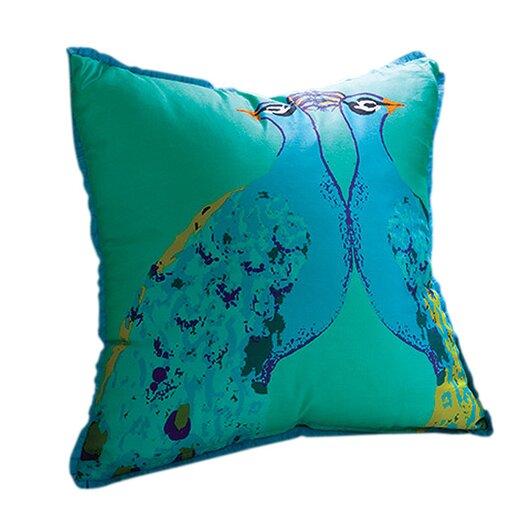 Global Views Bassett Hall Peacock Silk Pillow