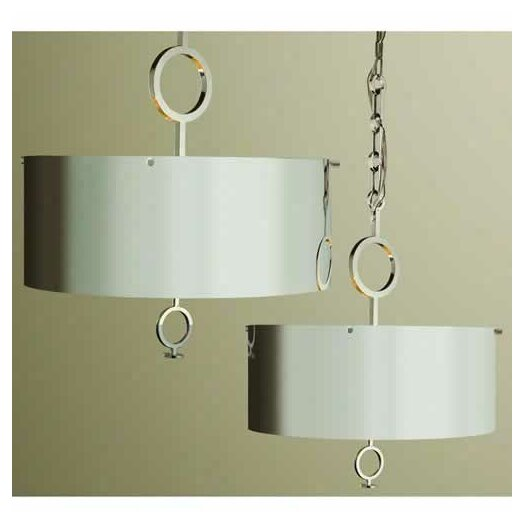 Global Views O 4 Light Drum Pendant Chandelier